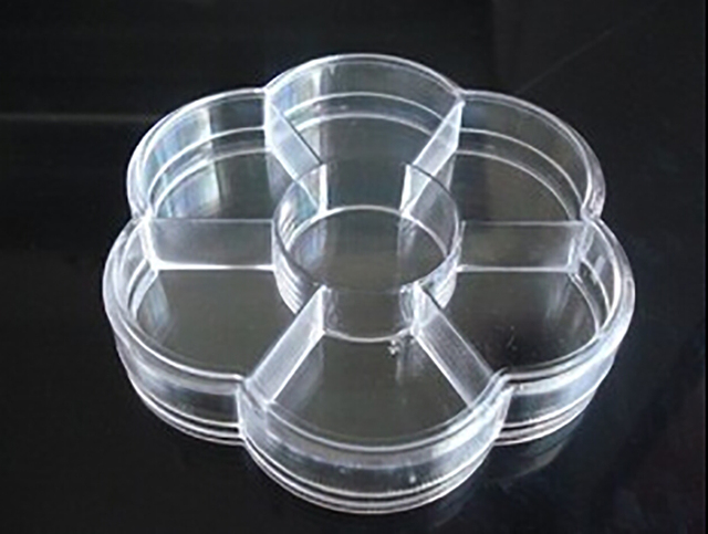 Round Clear Beads Display Storage Case Box 7 Grids Plastic Jewelry