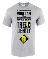 2018 Fashion Clothing Men T Shirt New Hot Sale 3D Printed Cool Tread Lightly Breaking Bad Walter White Tee Shirt
