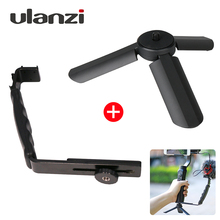 Ulanzi Mini Tripod+L Bracket Stand With 2 Hot Shoe for Zhiyun Smooth Q Stabilizer/Feiyu Gimbal/BY-MM1 Microphone/Video Light