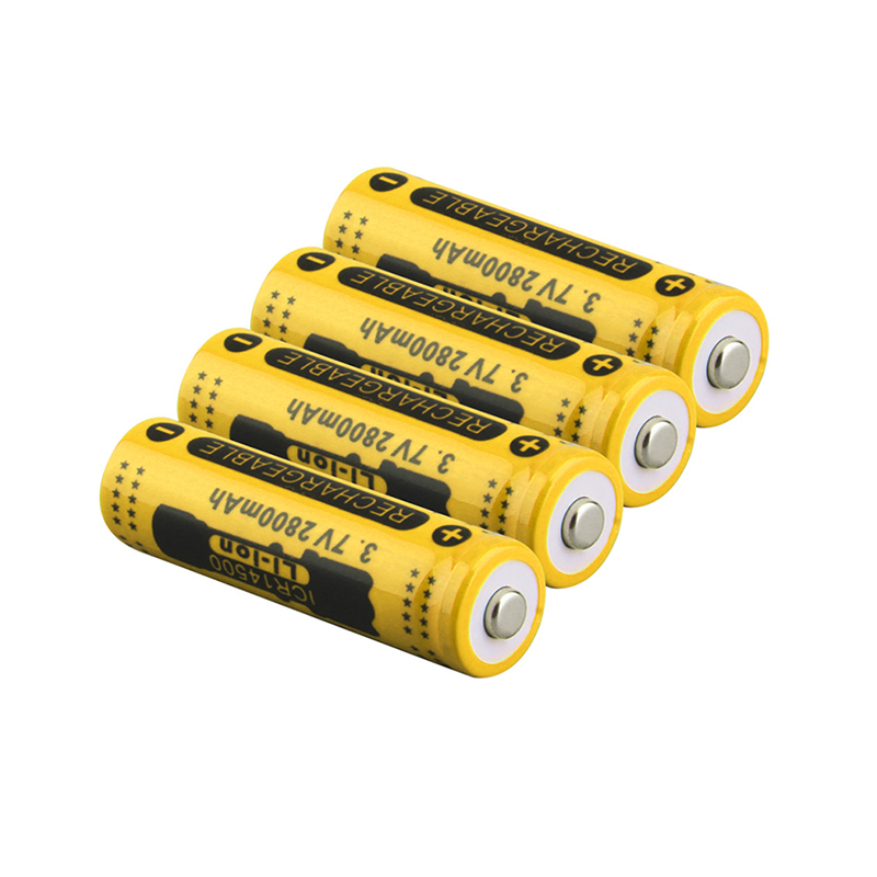 Bundled Sale GTF 3.7V 2800mah 14500 Battery Li-ion Rechargeable Battery