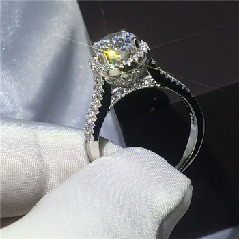 Luxury female ring 925 sterling si