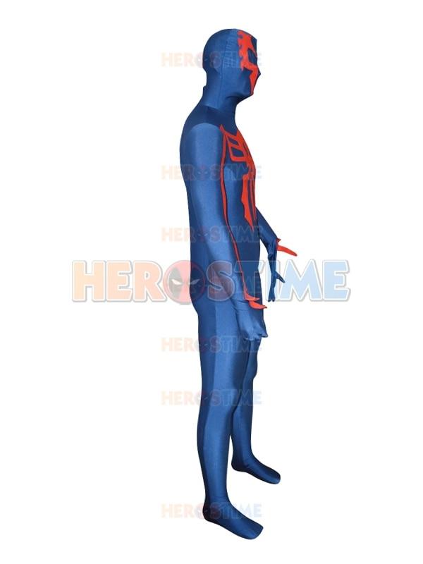 Gratis verzending Spider-man 2099 marineblauw spandex aangepaste - Carnavalskostuums - Foto 3