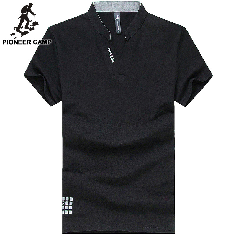 Pioneer camp 2017 summer men polo shirts business casual for Business casual polo shirt