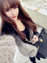 Coat Large Warmer Thick Knitted Rabbit Coat For Women Fur Jacket Overcoat Genuine Fur Short Outwear