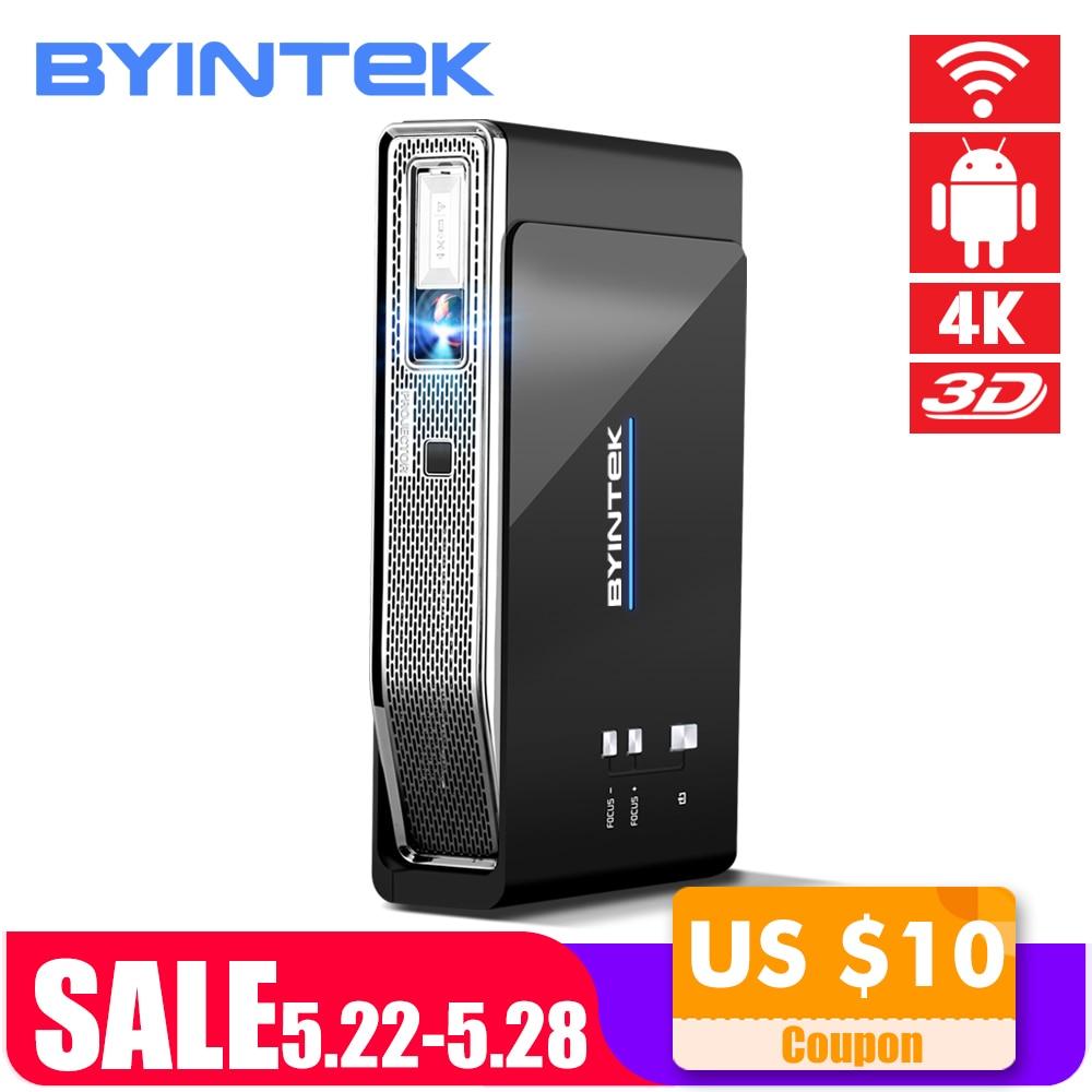 BYINTEK R15 UFO Inteligente Android WIFI Vídeo Home Theater Portátil LED lAsEr USB Mini HD DLP Projetor 3D para o Pleno HD 1080 P HDMI 4 K