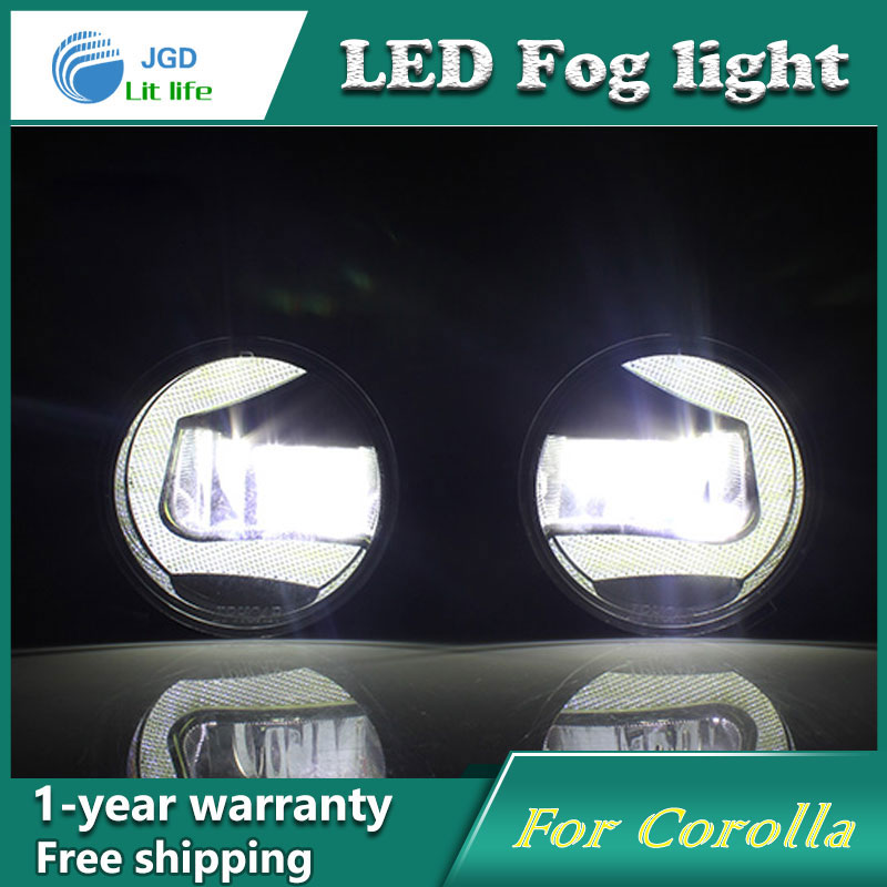 Super White LED Daytime Running Lights case For Toyota Corolla 2009-2013 Drl Light Bar Parking Car Fog Lights 12V DC Head Lamp 1 set white led daytime running fog light drl for toyota mark x reiz 2013 2015
