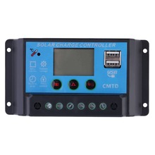 (Ship From DE)12V/24V Solar Charge Controller with LCD Display Auto Regulator Timer Solar Panel Battery Lamp LED Lighting