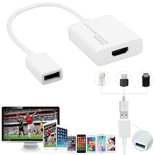 Universal HDMI Adapter Stream Phone Video to TV Projector for iPad iphone 5 6 Plus 7 Plus SAMSUNG Huawei HTC LG Android