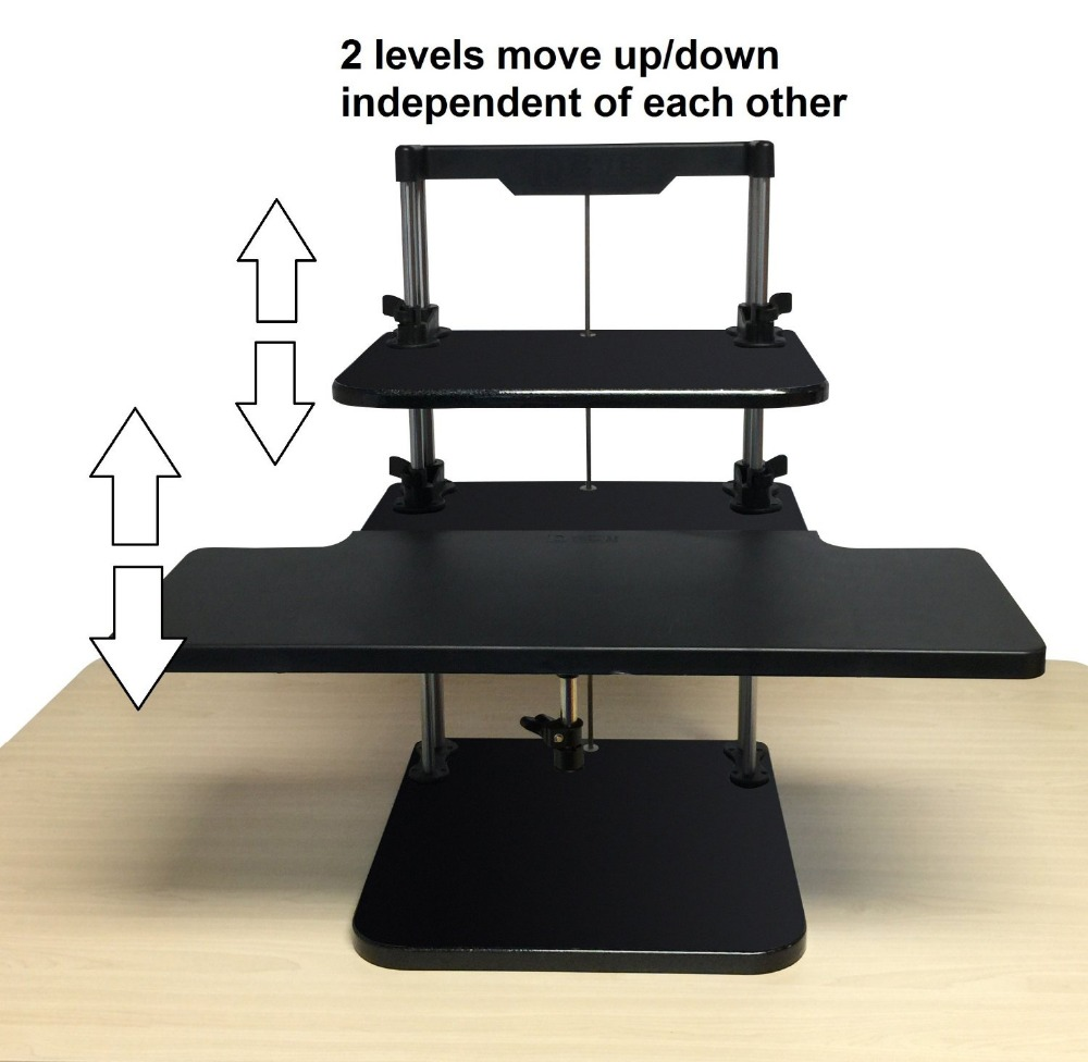 aliexpress : buy sit/stand desk riser three level height