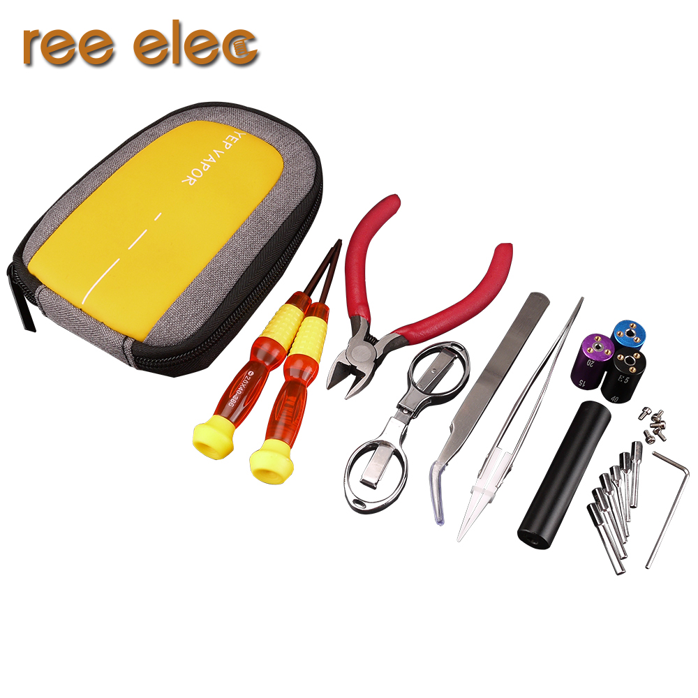 Electronic Cigarette DIY Tools Kit Rda Rta Atomizer Accessories Prebuilt Coil Ceramic Tweezers Coil Jig Supply Set ...