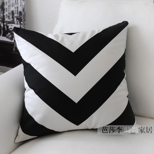 Black And White Chevron Pillow Creativehobby Store