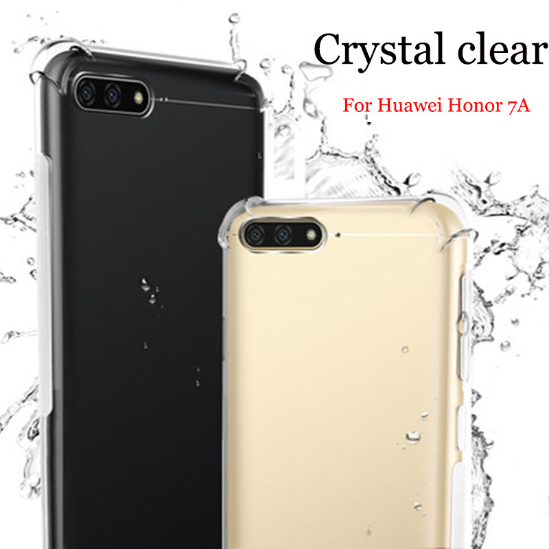 sale retailer 47e7d d94f9 US $8.25 8% OFF|For Huawei Honor 7A case HD Clear transparent soft Back  Cover For Huawei Honor7A case For Huawei Honor 7 A Shell Anti knock-in  Phone ...