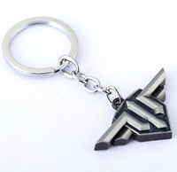 J store 10Pcs/lot Game World Warplanes Keychains Heroes Warplane Model Alloy Key Ring For Fans Llavero porte clef