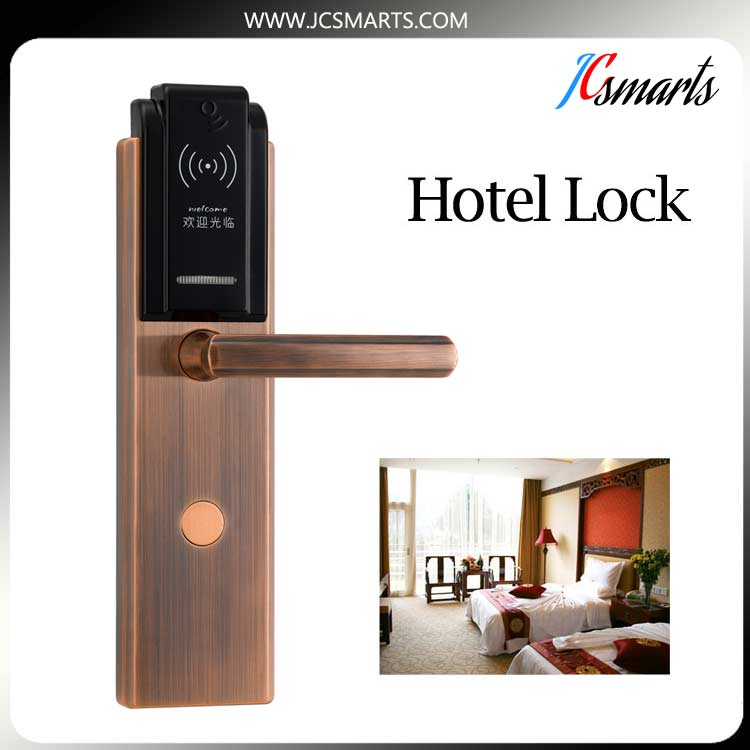 2017 hot sale smart hotel security door lock, rfid lock, hotel lock system with free software digital electric best rfid hotel electronic door lock for flat apartment