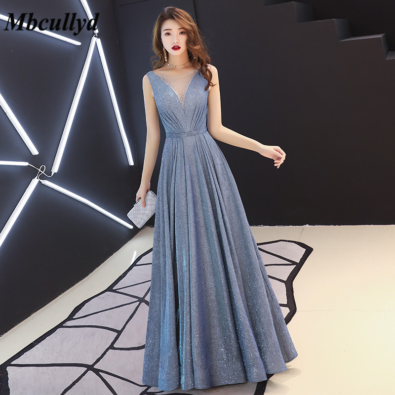 Mbcully Bridesmaid Dresses 2019 Sheer Scoop Neck Long Maid