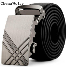 ChenaWolry 2016 Hot 1PC Fashion Accessory Luxury Men Leather Automatic Buckle Belts Fashion Waist Strap Belt Waistband Oct 12