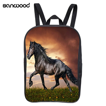 Children Kids Horse Printing Book Storage School Bag Travel Rucksack Backpack