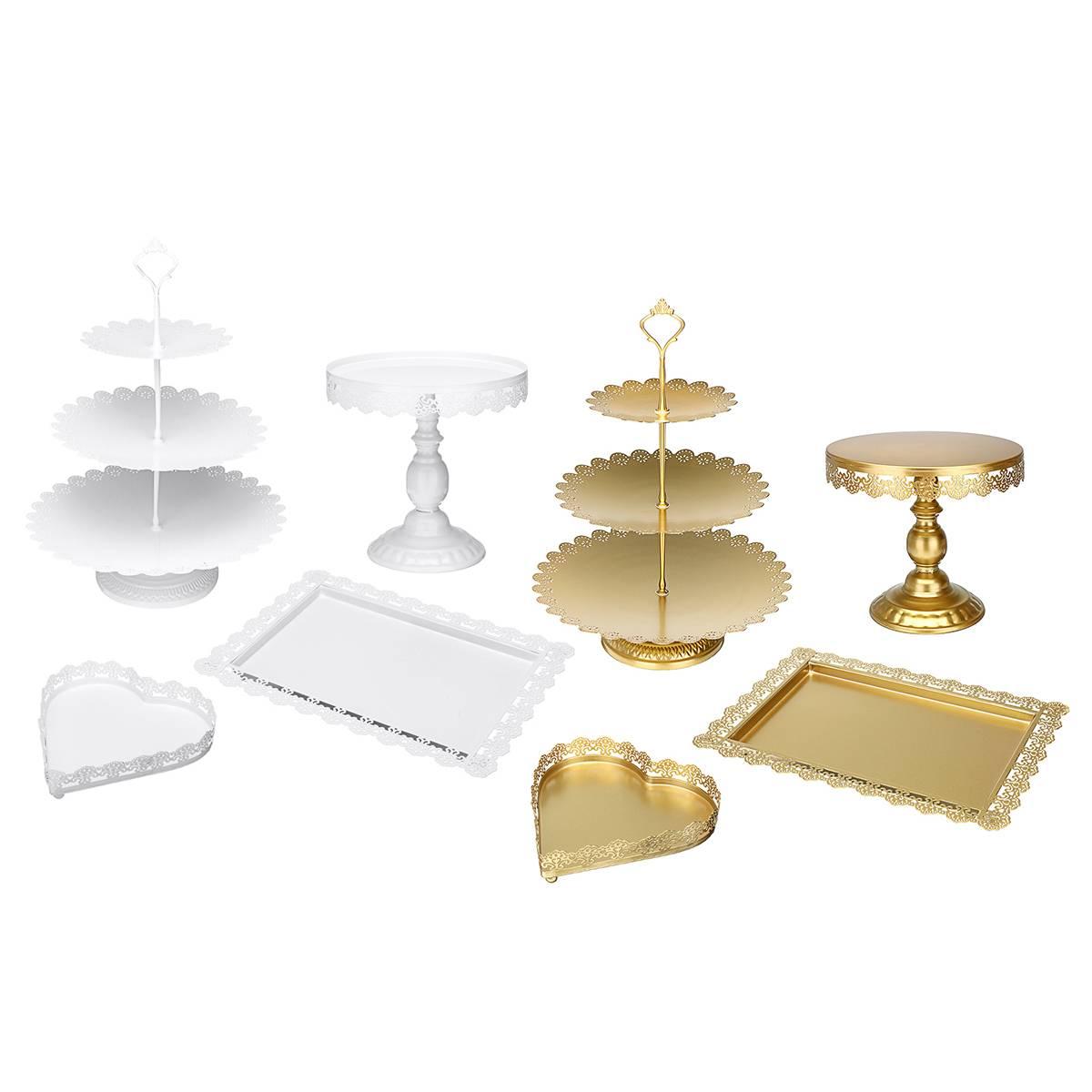 Haute qualité gâteau Stand Dessert Table de mariage fête douche événement fournisseur doux Table support de gâteau décoration 4 pièces dans l'ensemble