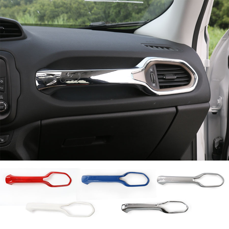 Car styling co pilot co driver grab handle cover trim sticker interior accessiories decoration