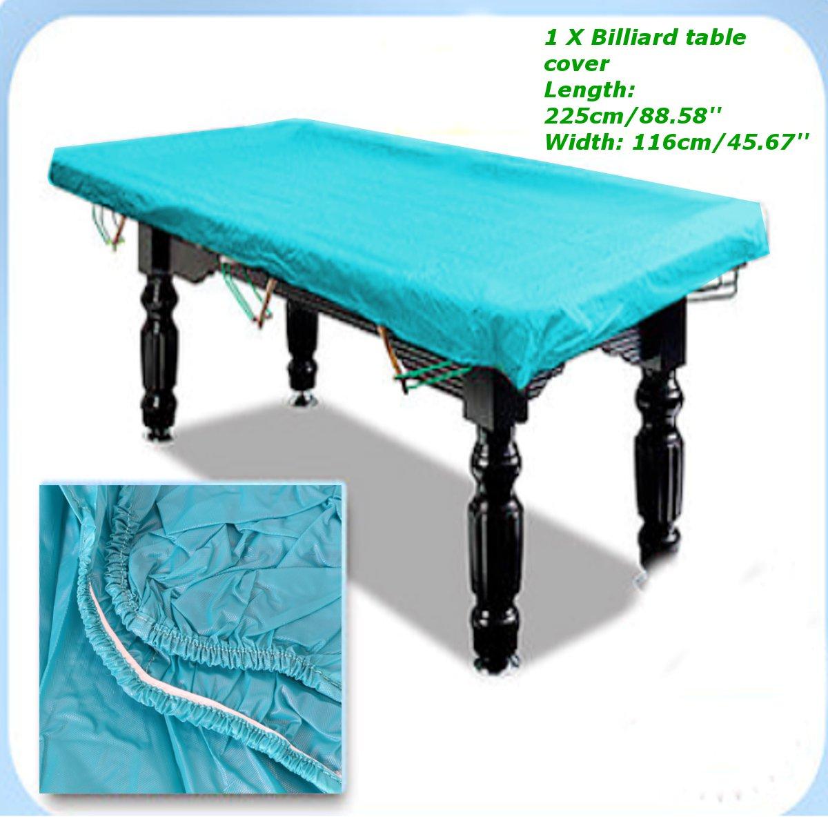 Attractive 89u0027u0027 Rubber Waterproof Cover DustProof Cloth For 7ft Pool Snooker Billiard  Table