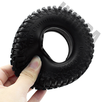 "4PCS 100MM 1.9"" Rubber Tyre / Wheel Tires for 1:10 RC Rock Crawler Axial SCX10 90046 90047 AXI03007 Tamiya CC01 D90 D110 TF2 5"