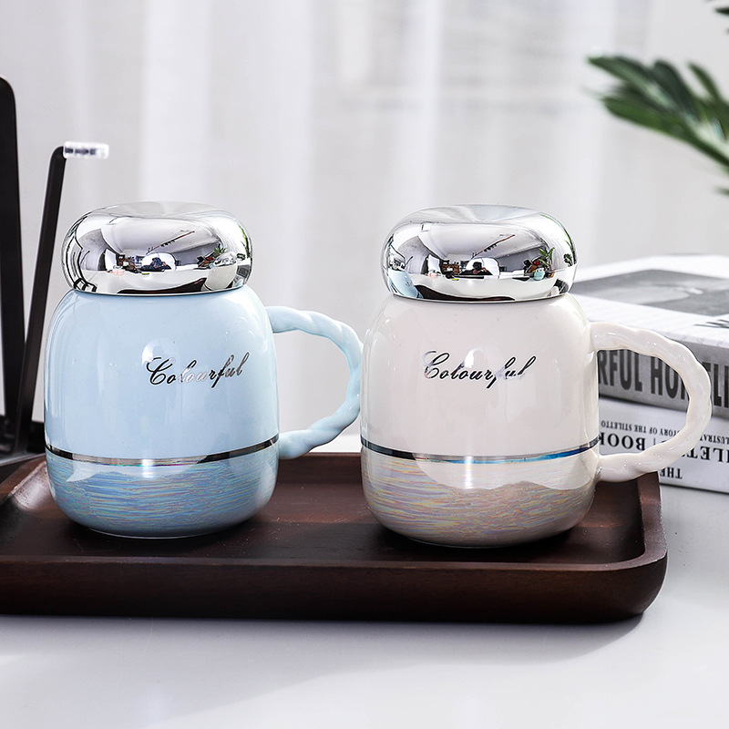 Fashion Korean Tazas De Ceramica Creativas Water Bottle Coffee Cup Belly Cup Ceramic Cups Coffee Mugs Creative for Women