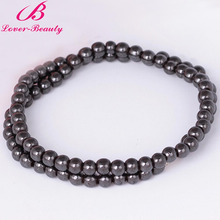 Lover Beauty Black Beads Magnetic Necklace weight Loss Hematite Jewelry Health Care Therapy Anti-fatigue Choker for man -E