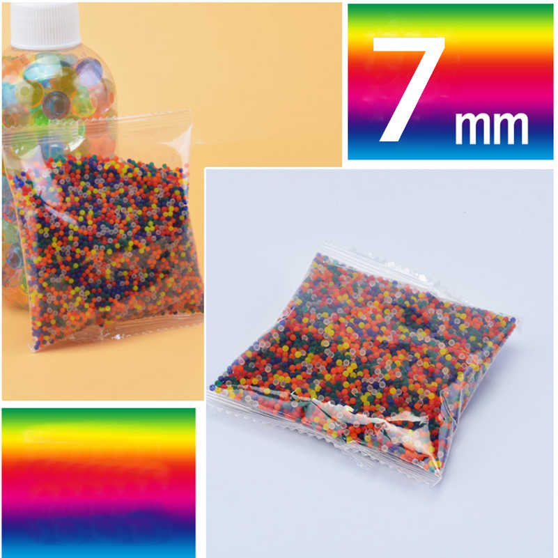10,000 Pcs/bag 7mm Colorful Crystal Bullet for M4 Water Gun Paintball Soft Bullet Bibulous Gun Toy Air Accessories Pisol