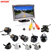 2In1 Car Parking System Kit 5″ Desktop Bracket TFT LCD Color Monitor 5 Inch HD Display Screen + Rear View Camera Waterproof