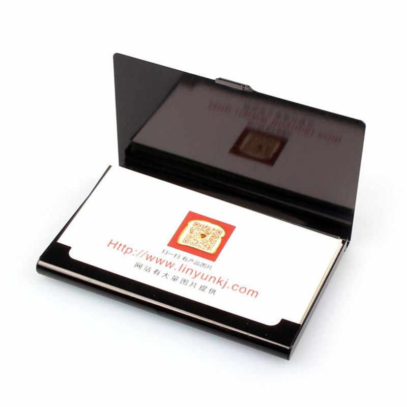 Portatarjetas de tarjeta de crédito de Banco para hombre antiprotección de viaje portatarjetas de identificación cartera Metal tarjeta de visita cartera excelente regalo