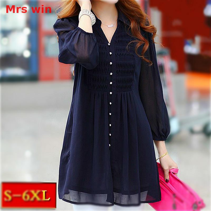 Mrs win tunics women tops tunic ruffle blouse women 6xl for Womens golf shirts xxl