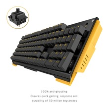James Donkey 619 104keys Mechanical Gaming Keyboard with Gateron Switch Game Keyboard USB Wired  For PC Gamers without Backlight