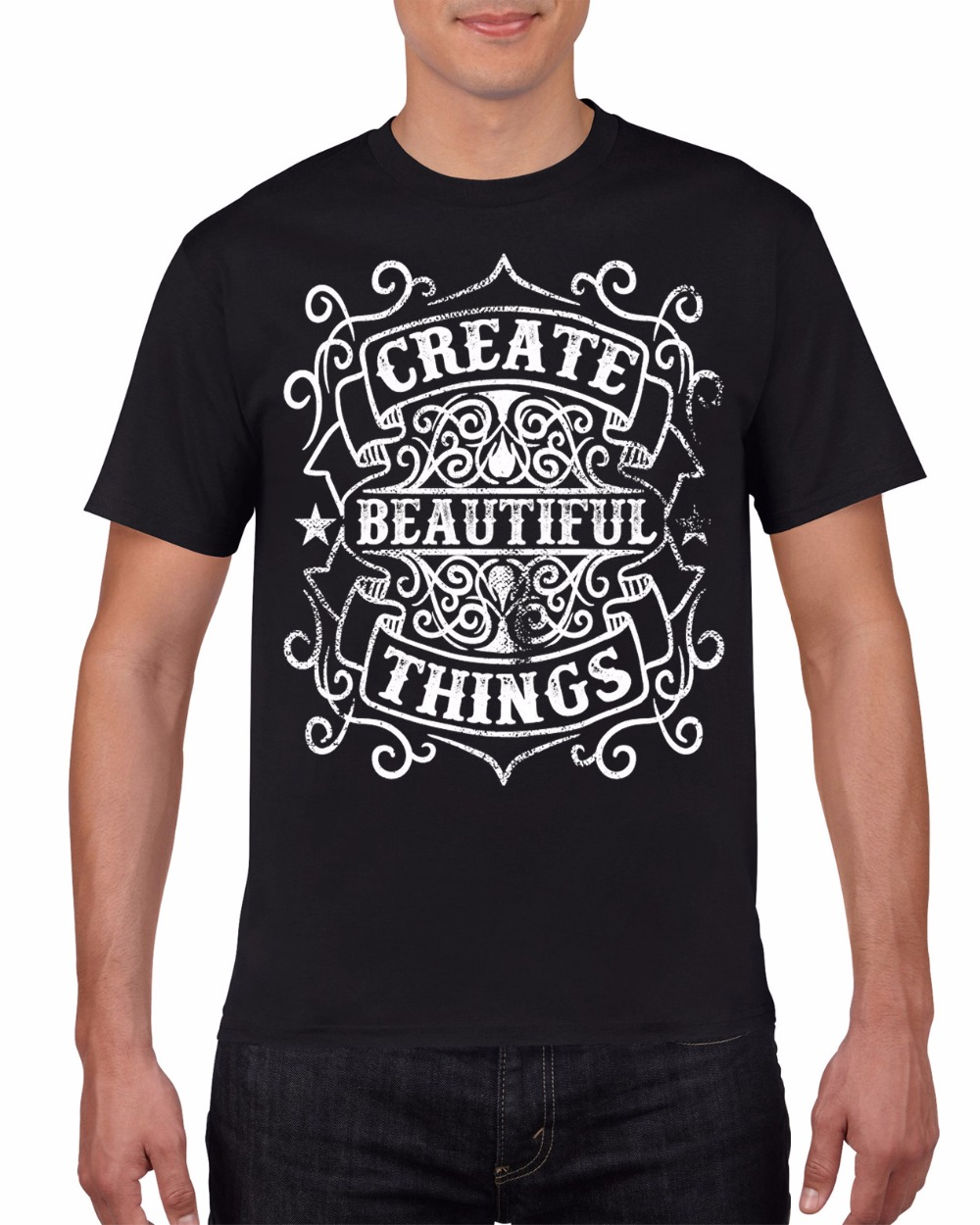 Men Brand Famous Clothing Custom T Shirts Create Beautiful Things