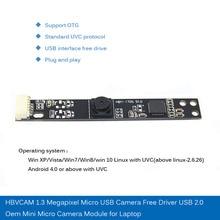 HBVCAM 1.3 Megapixel Micro USB Camera Free Driver 2.0 oem Mini Module  for laptop