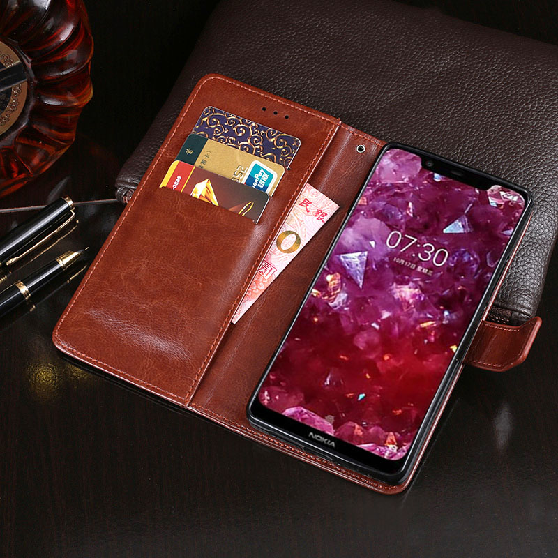 For Nokia 7 1 Plus Case Business Flip Wallet Leather Phone Case for Nokia 7 1 Plus Cover Capa for Nokia 8 1 Accessories in Wallet Cases from Cellphones Telecommunications