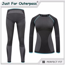 2017 New Brand Thermal Underwear Women Winter Quick Dry Anti-microbial Stretch Thermo Underwear Sets Female Warm Long Johns HI-Q(China)
