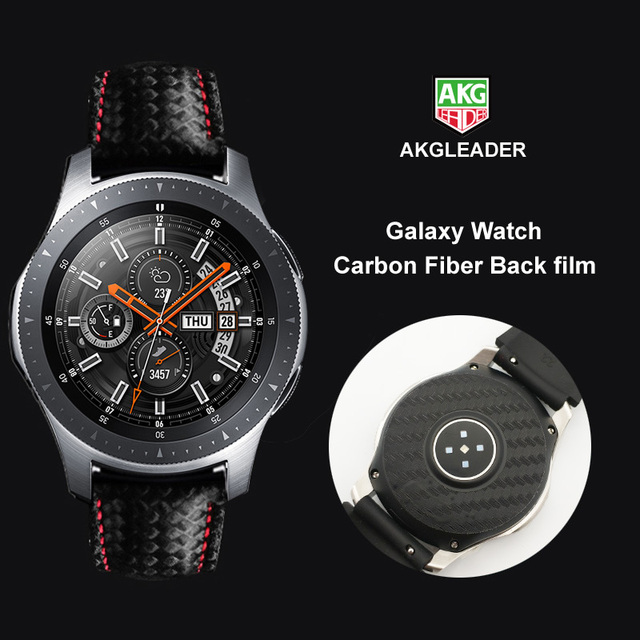 2PCS Carbon Fiber Back Screen Protector Film For Samsung Galaxy Watch 46mm Cover