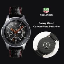 Filme protetor de tela traseira fibra de carbono, 2 peças, para samsung galaxy watch 46mm, capa para samsung gear s3 nice com a sua pulseira do relógio