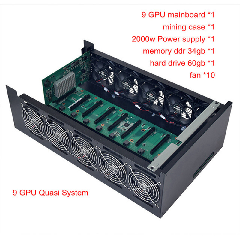 mining case pc frame USB miner rig server rack PCIE 16x mainboard BTC XMR for P106 RX470 480 RX 570 580 gtx 1060 9 Graphics card