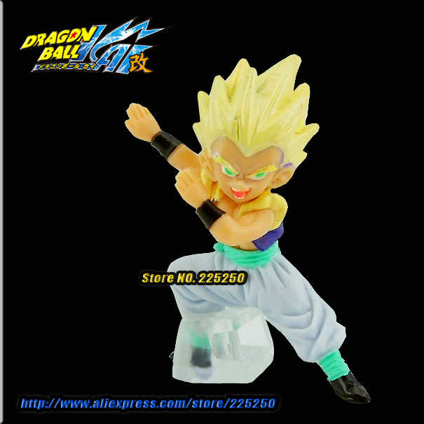 Anime japonês Dragon BALL Dragon Ball Z/Kai Genuine Original BANDAI Gashapon HG PVC Brinquedos Figura 18 Gotenks Super Saiyan
