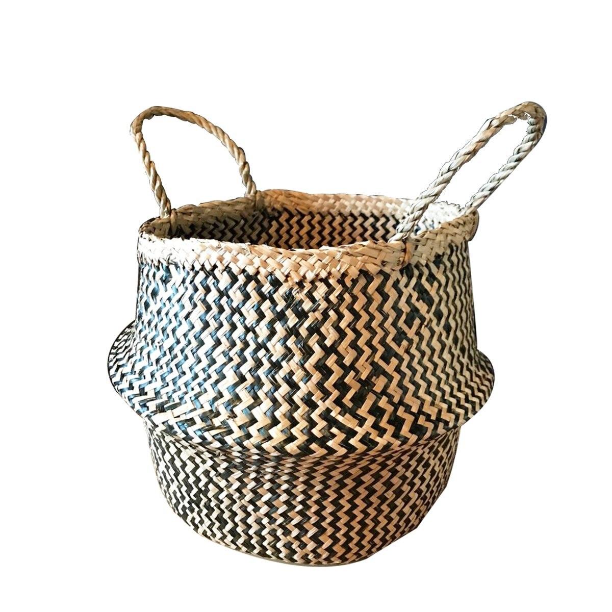 natural flor de ratn maceta cesta de pastos marinos plegable cesto de la ropa del vientre decoracin de jardn de