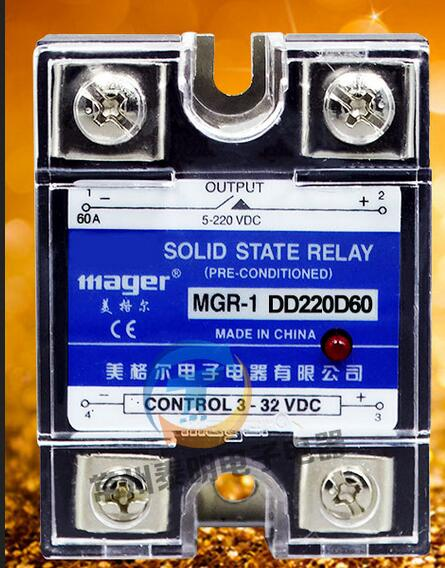 mager Genuine new original  single-phase SSR SSR single-phase solid-state relay 60A DC-DC DC control DC MGR-1 DD220D60 ssr mgr 1 d4860 meike er normally open type single phase solid state relay 60a dc ac