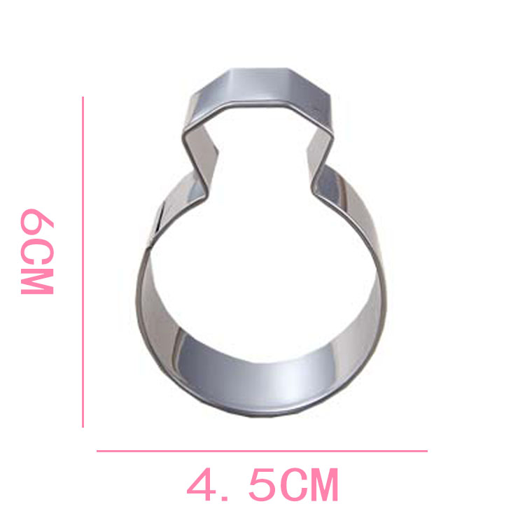 Lady Wedding Party Diamond Ring Cookie Mold Diy Stainless Steel Kitchen Accessories Baking Tools Cutter In Pastry From Home Garden
