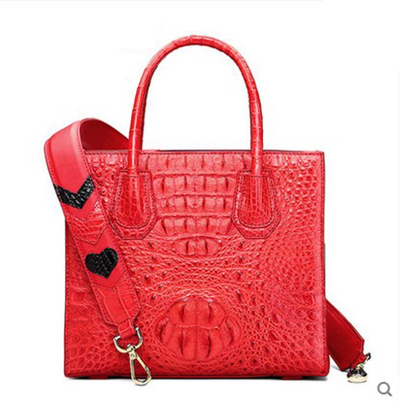 hlt Thai crocodile women handbag female real crocodile leather 2017 new style fashion casual single  shoulder killer women bag