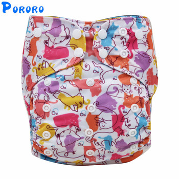 AIO Baby Washable Cloth Diaper Nappy Cover Pockets All in One Reusable Christmas Print Cloth Diapers With Insert Nappy lecy eco life one size sleeve diaper with color tab square tab baby reusable nappy with stay dry suede cloth inner wholesale