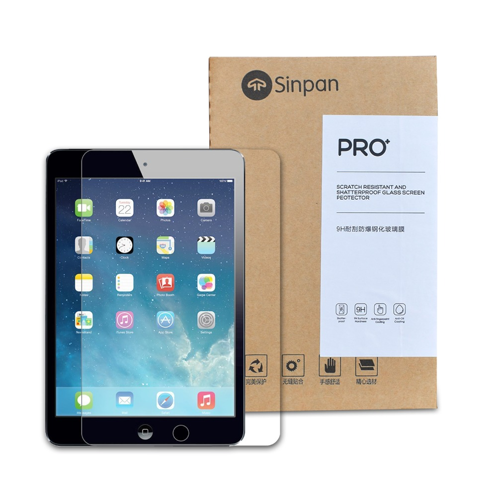 SINPAN Friction Pad Paper Feel Matte Screen Protector For NEW IPAD 9.7 inch(2017) Tempered Glass Protective Film - [Anti-Glare] ...