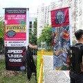 Publicidad mochila estante poster banner de publicidad Al Aire Libre pantalla titular de rack titular marco del cartel de Publicidad al aire libre
