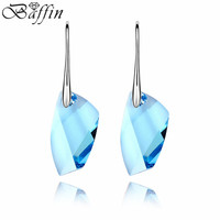 High Quality 100 Genuine Crystals From Swarovski Earrings Perfect Geometric Cutting Fine Jewelry For Women Party