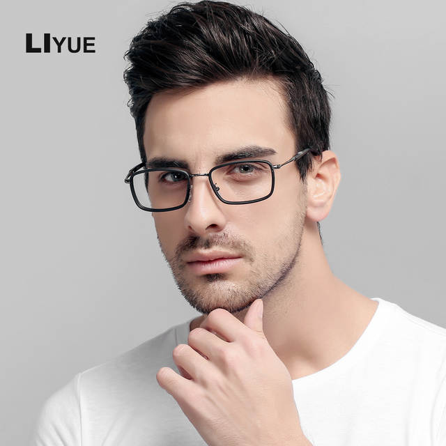 4cf7fcebab9 LIYUE Fashion men optical glasses Style vintage eyeglasses clear Computer  glasses Prescription eyewear Spectacles Frame