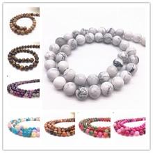 Wholesale 6/8/10mm Natural Stone Bead Black Lava Tiger Eye Bulk Matte Loose Beads For DIY Making Bracelet Necklace Jewelry